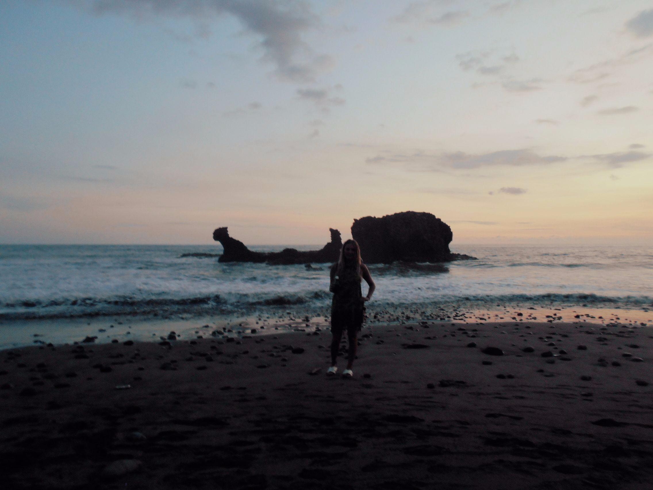 A beach sunset