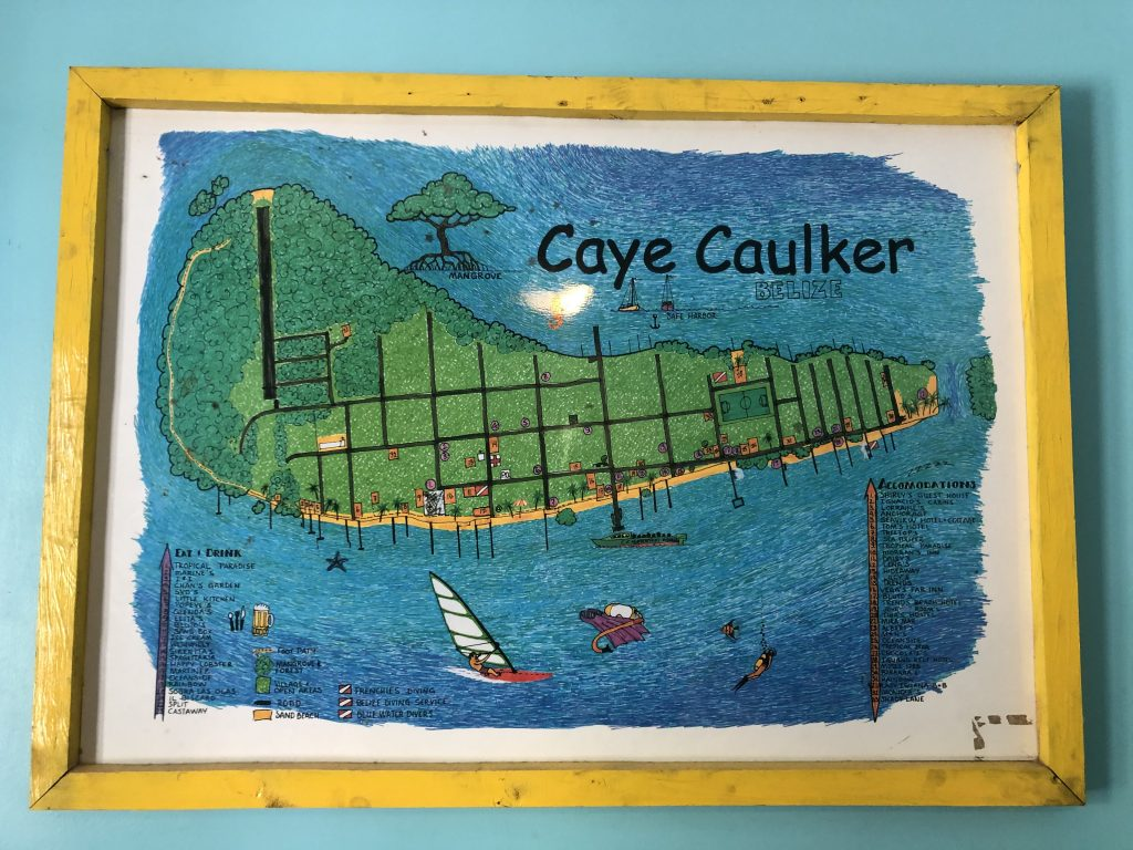 Map of Caye Caulker
