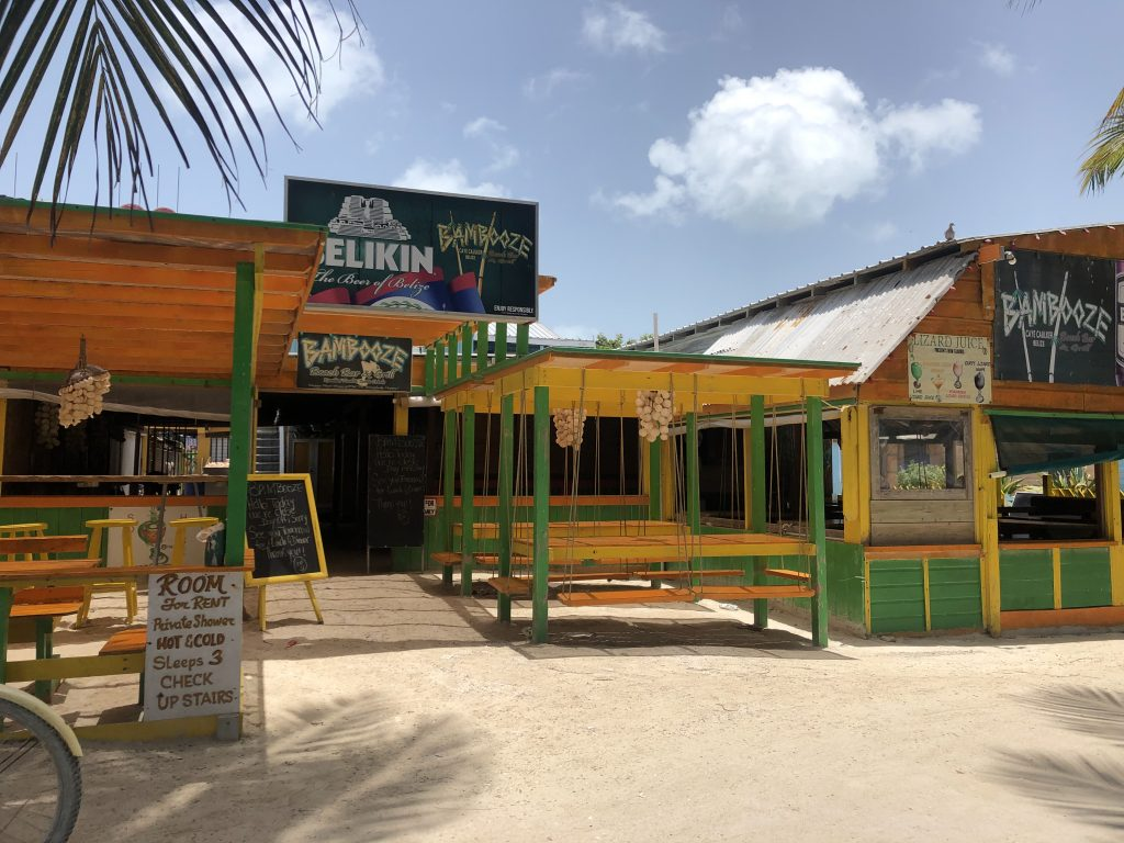 Beach bar in Belize