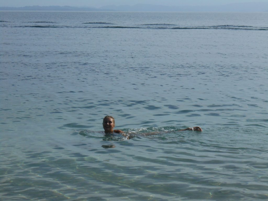Swiming on Starfish beach