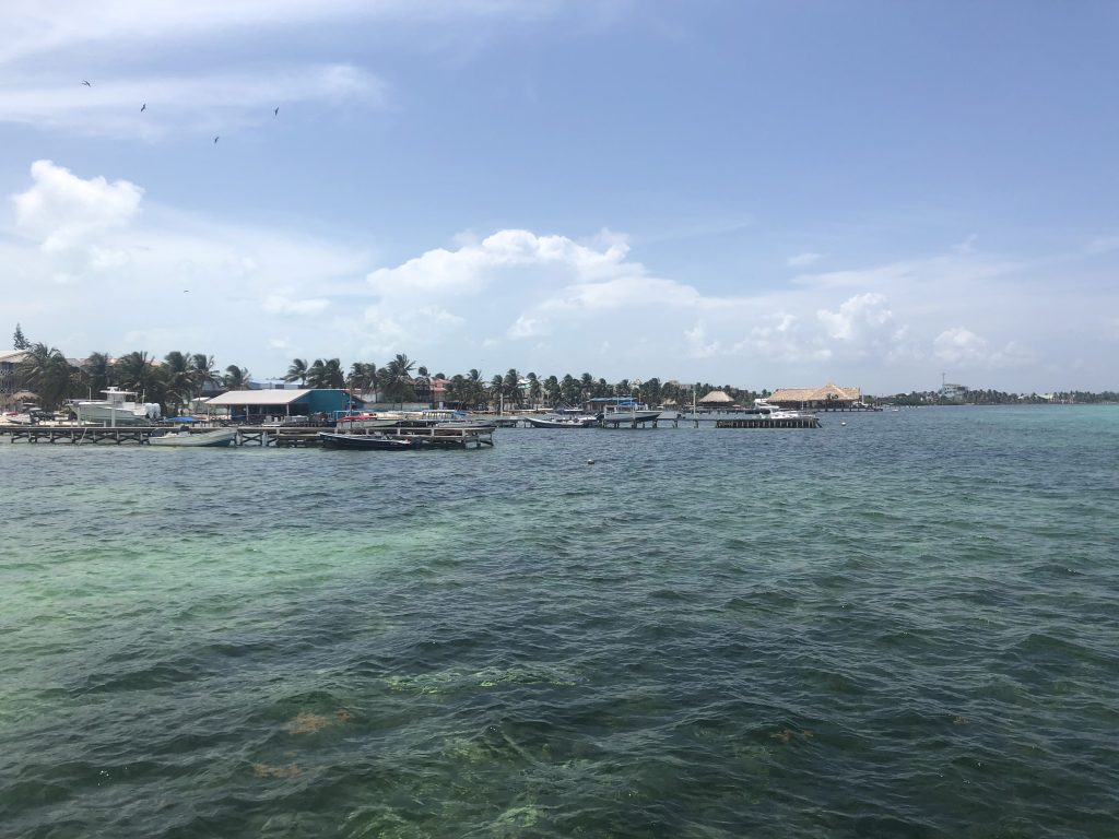 San Pedro island in Belize