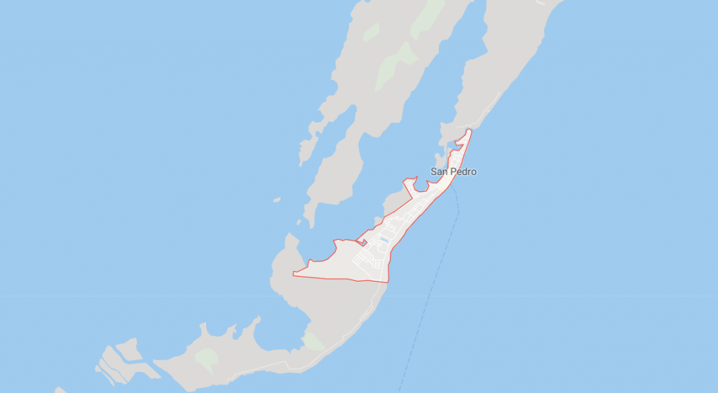 Map of San Pedro Ambergris Caye
