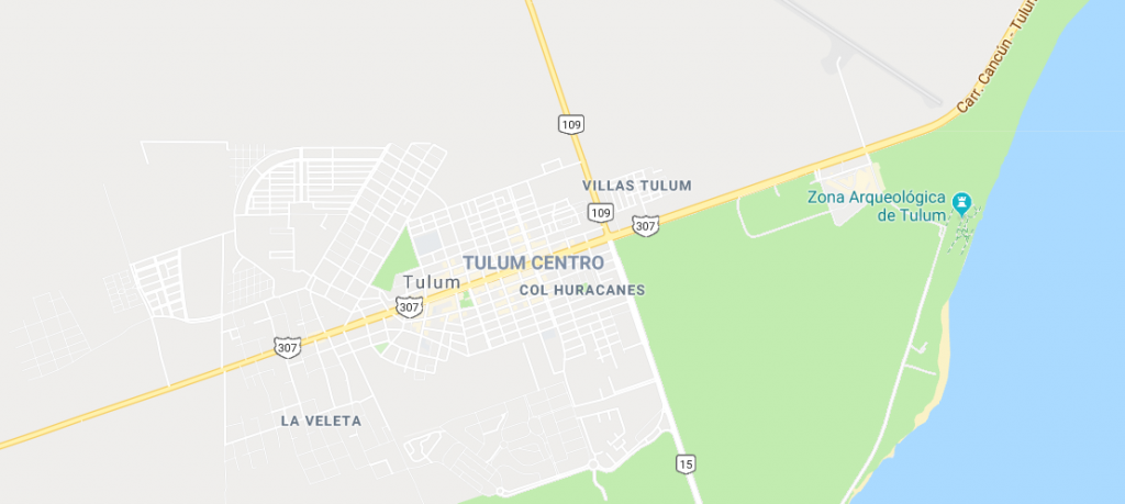 Map of tulum