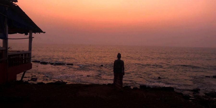 Anjuna Beach suset