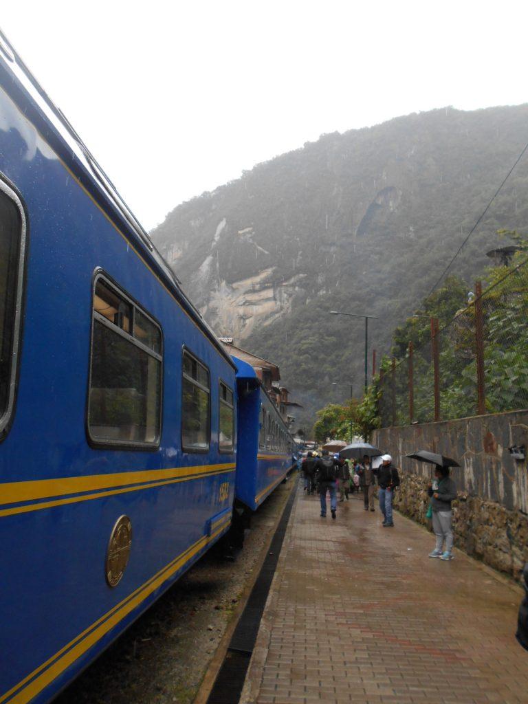 Peru rail train Ollantaytambo