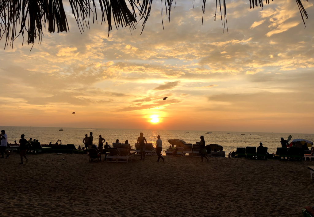 Sunset on Candolim beach