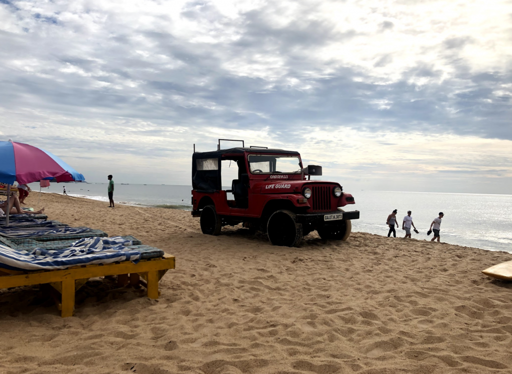 Lifeguards on Candolim beach