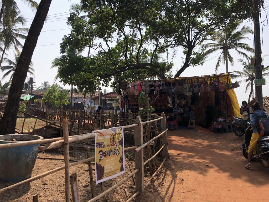 Anjuna market stalls