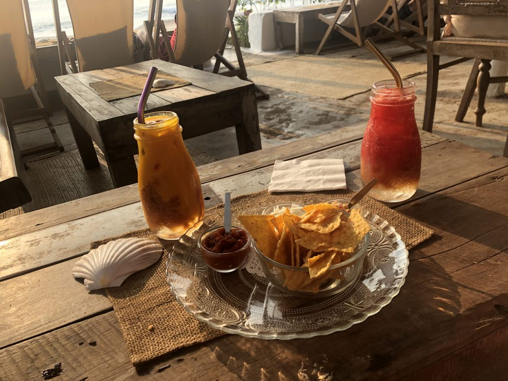Food at Eva Cafe Anjuna Beach