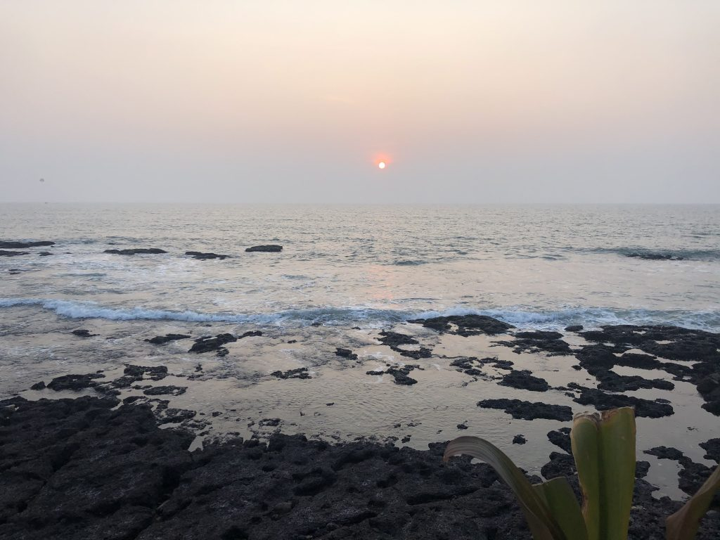 Sunset on Anjuna beach