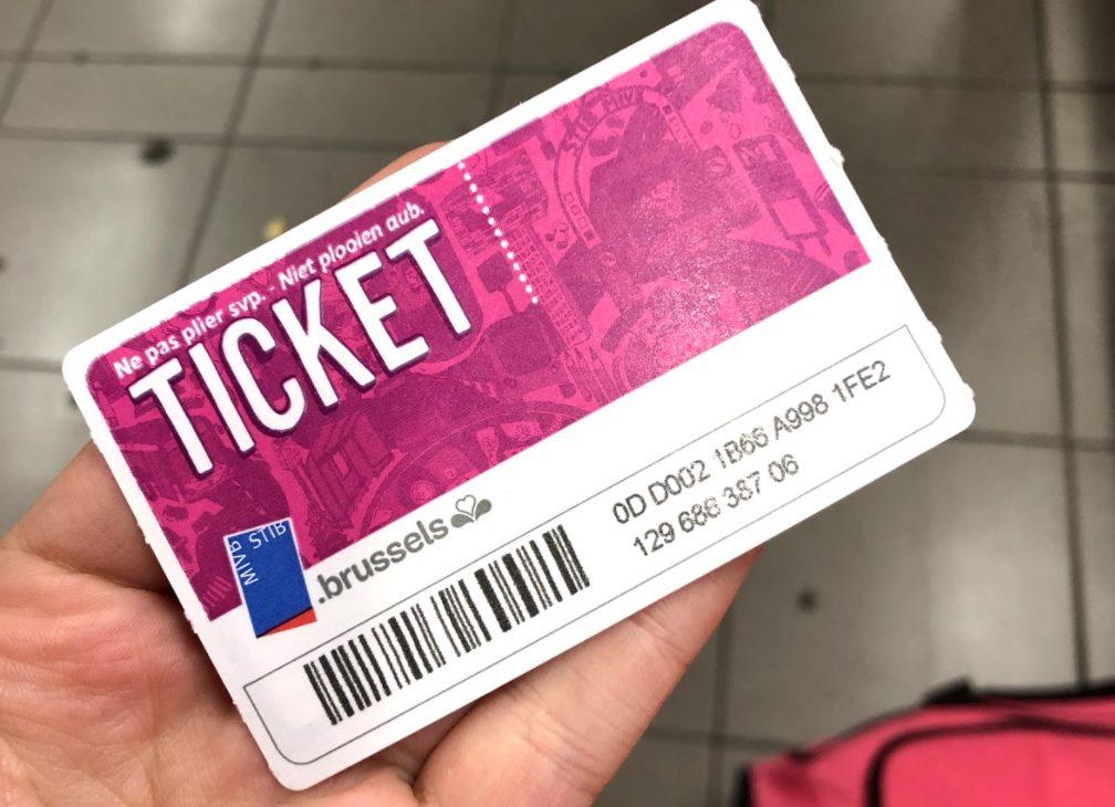 Brussels metro ticket
